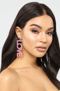 New Kind Of Love Earrings - Pink