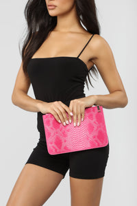 Dile Tone Clutch - Pink Angle 1