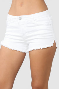Love Or Lust Denim Shorts - White