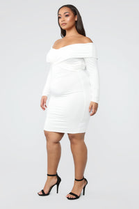 Crossed My Mind Midi Dress - Ivory Angle 7