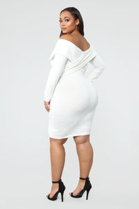 Crossed My Mind Midi Dress - Ivory Angle 8