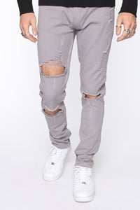 Point Of View Skinny Jeans - Grey Angle 3