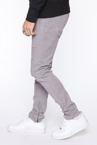 Point Of View Skinny Jeans - Grey Angle 4