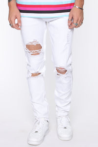 Point Of View Skinny Jeans - White Angle 1