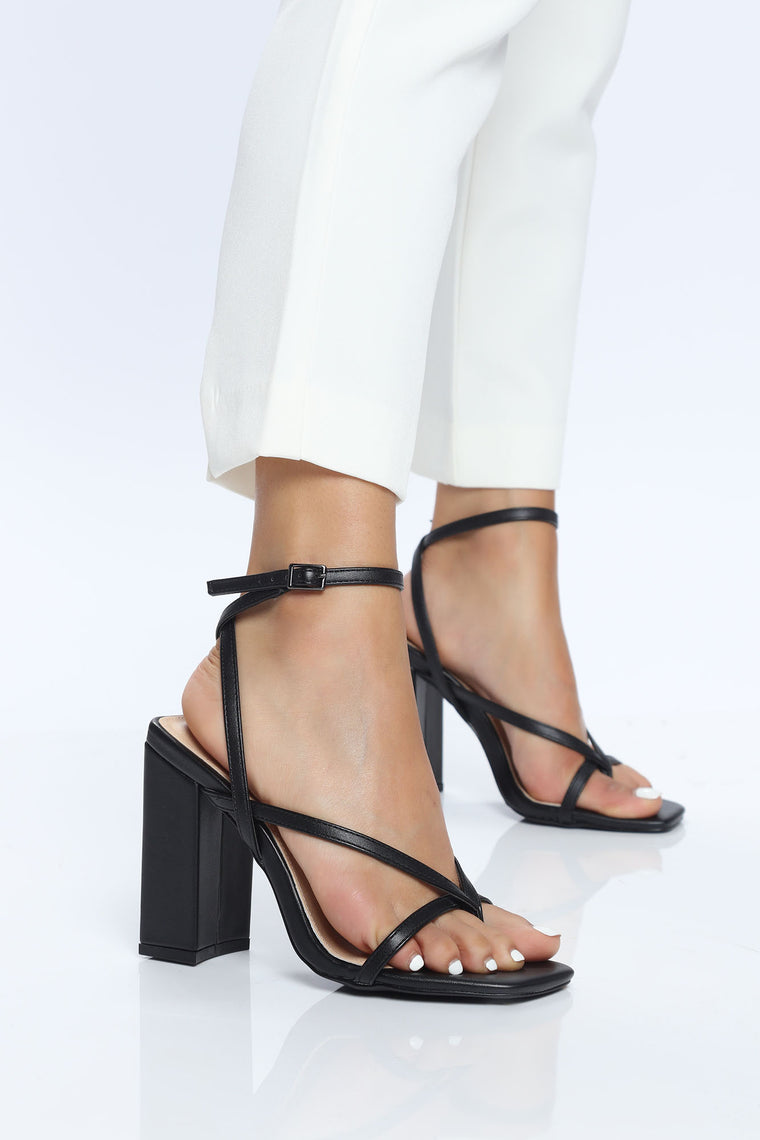 All Your Attention Heeled Sandal - Black