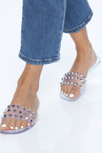 Livin' Easy Flat Sandal - Clear Angle 1