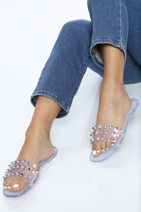 Livin' Easy Flat Sandal - Clear Angle 2
