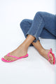 Dream Vacation Flat Sandal - Fuchsia