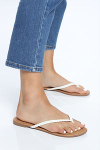 Right But It Felt Thong Sandal - White Angle 2