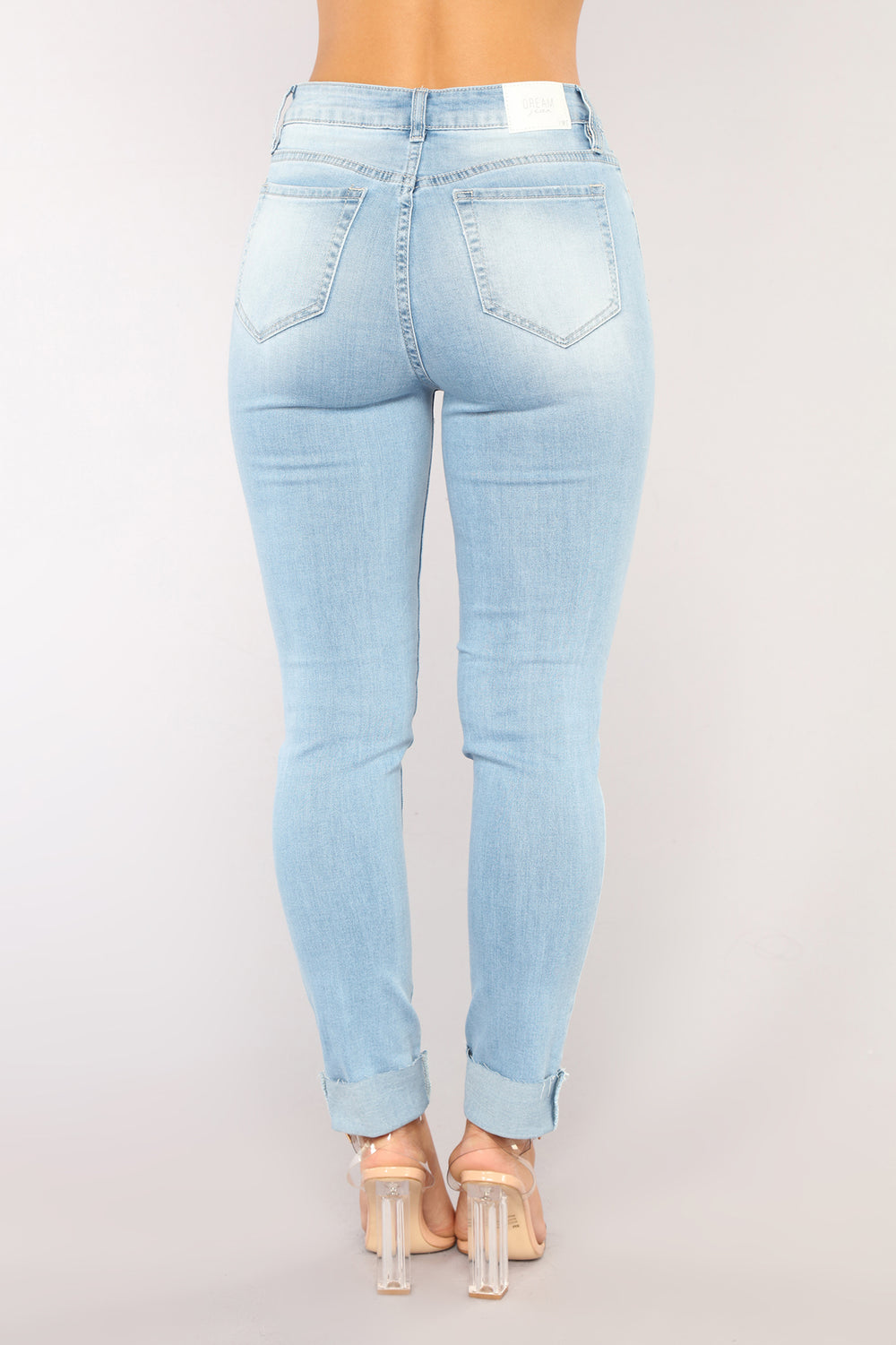 Sky Boyfriend Jeans - Light Blue Wash