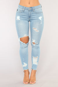 Him and I Ankle Jeans - Light Blue Wash