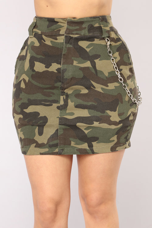 Camo In Command Skirt - Camo