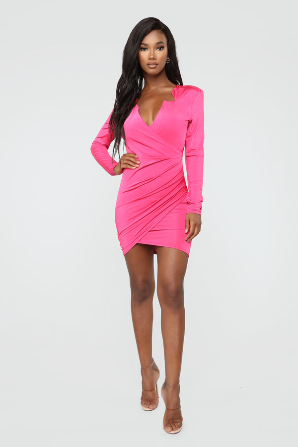 fb1b0183d80 Future Is Bright Mini Dress - Fuchsia
