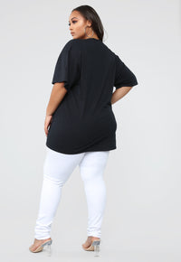 On To The Next Tunic Top - Black