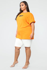 No Thanks Tunic Top - Orange Angle 4