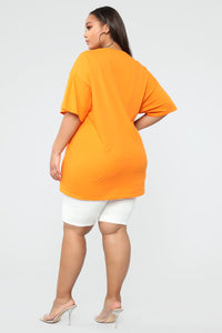 No Thanks Tunic Top - Orange Angle 6