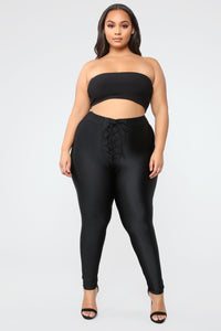 Tying Up Loose Ends Leggings - Black