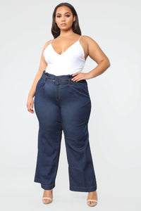 Showstopper High Rise Jeans - Dark Denim Angle 1