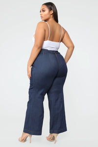 Showstopper High Rise Jeans - Dark Denim Angle 3