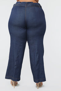 Showstopper High Rise Jeans - Dark Denim Angle 6