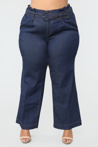 Showstopper High Rise Jeans - Dark Denim Angle 4