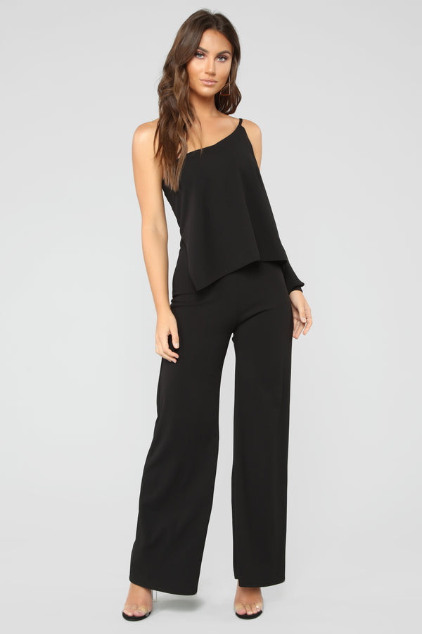 2710add64470 Soiree One Shoulder Jumpsuit - Black