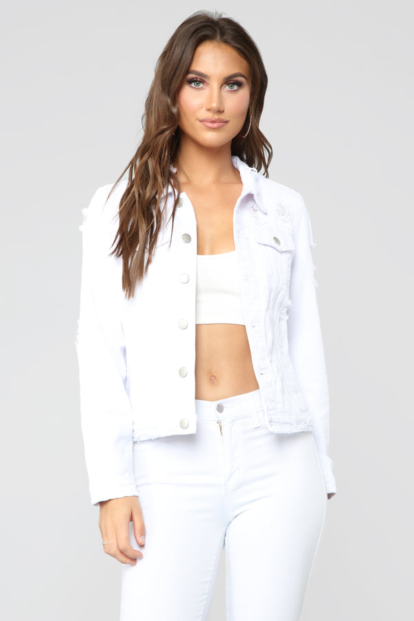 c1c4c40171a9 A Triple Threat Denim Jacket - White