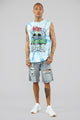 LA Live Sleeveless Tank Top - Multi