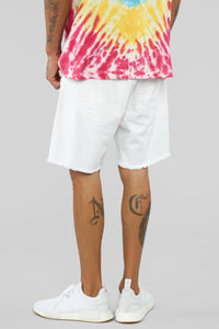 Martin Denim Shorts - White Angle 6