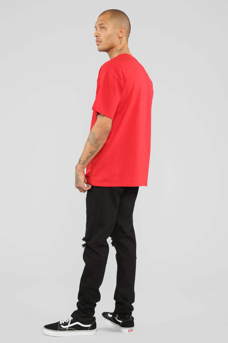 Clout Crew Short Sleeve Tee - Red