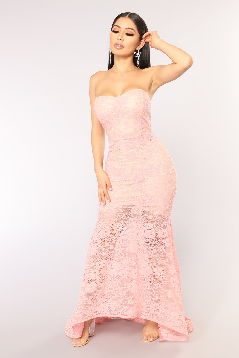 A Night To Remember Mermaid Dress - Rose