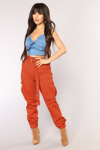 Corinne Cargo Pants - Orange