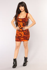 Rack Time Dress - Orange