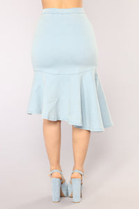 Dance The Night Away Skirt - Light Blue