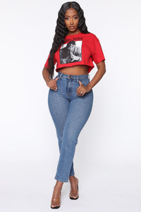 Poetic Justice Crop Top - Red Angle 2