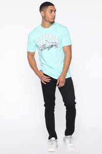 Shine Bright Short Sleeve Tee - Mint/combo Angle 2