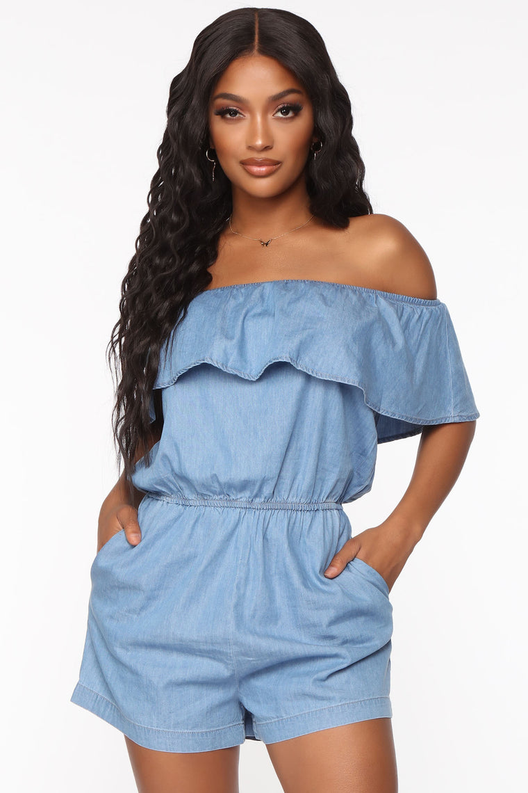 Jessie Romper - Light Wash