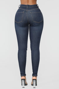 Here For The Party Skinny Jeans - Dark Denim