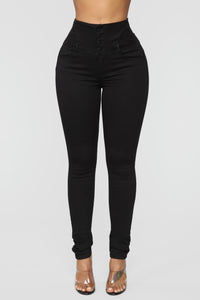 Watch Me Walk Skinny Jeans - Black