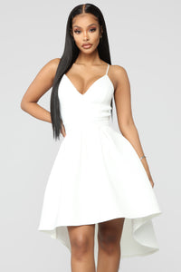Just A Kiss High Low Dress - White Angle 2