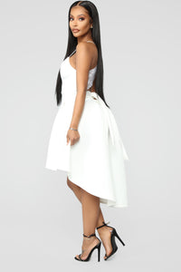 Just A Kiss High Low Dress - White Angle 3