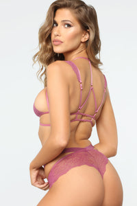 Wild Nights Lace Panty - Mauve Angle 2