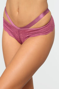 Wild Nights Lace Panty - Mauve Angle 5