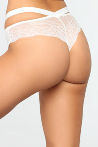 Wild Nights Lace Panty - White
