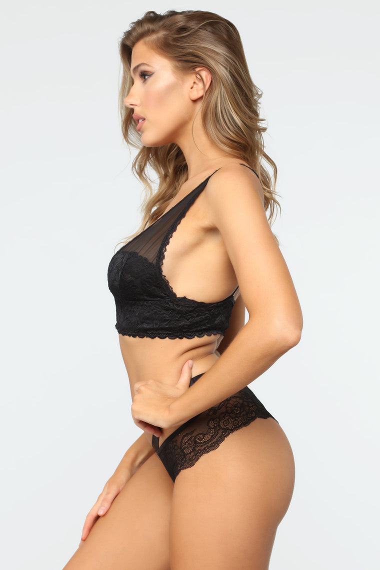 Wild Nights Lace Panty - Black