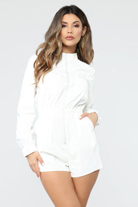 Looking Icy Active Romper - White