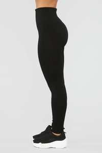 Waist Cinchin Leggings - Black
