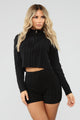 Spring Street Sweater Set - Black