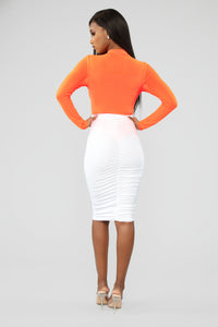 Miss Popular Bodysuit - NeonOrange
