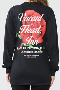 Vacant Hearts LS Top - Black